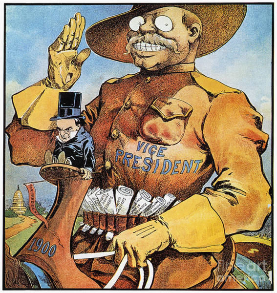 Photograph - Roosevelt/mckinley Cartoon by Granger