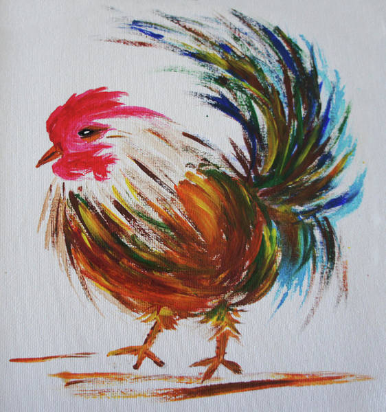 Breeding Painting - Rooster  by Art Spectrum
