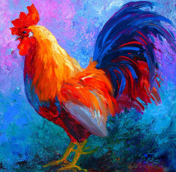 Wall Art - Painting - Rooster Bob by Marion Rose