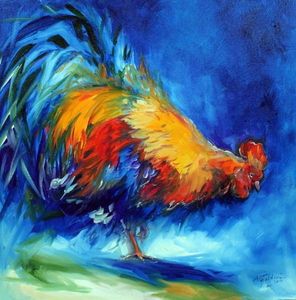 Painting - Rooster Hunting by Marcia Baldwin