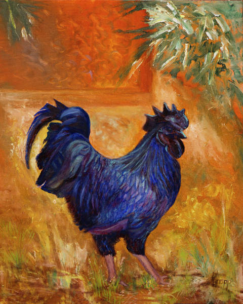 Painting - Rooster by Kathy Knopp