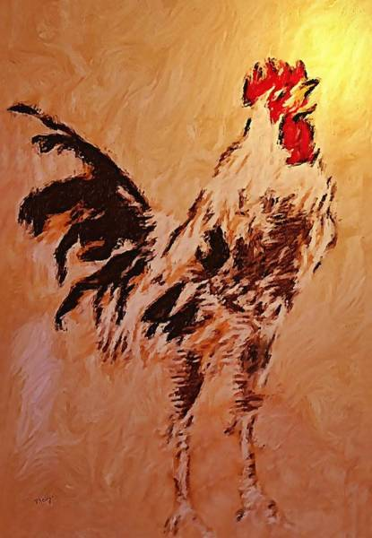 Painting - Rooster by Valerie Anne Kelly