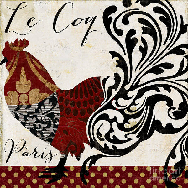 Wall Art - Painting - Roosters Of Paris I by Mindy Sommers