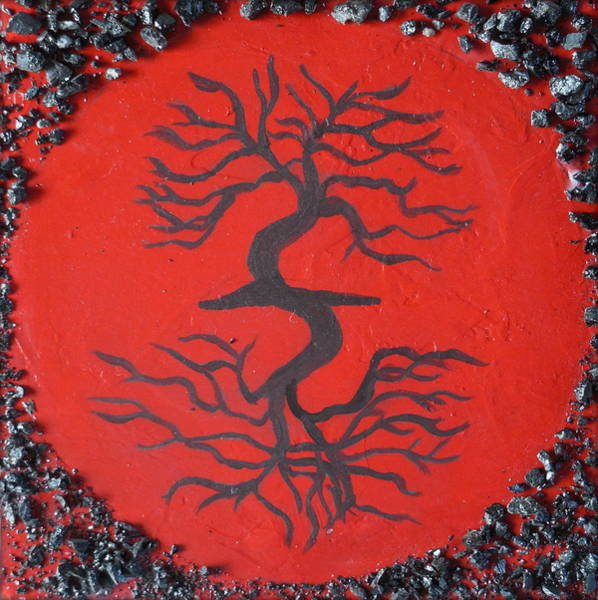 Wall Art - Painting - Root Chakra Red Chakra Art by Chakra Art