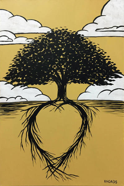 Heart Gold Painting - Rooted In Love by Nathan Rhoads