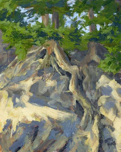Painting - Roots And Rocks by David King
