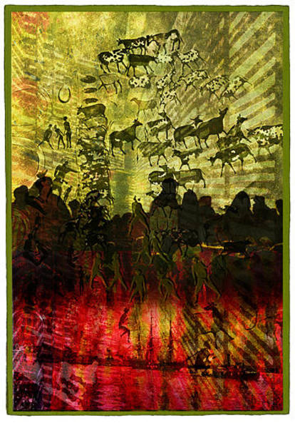 Tribal Dance Digital Art - Roots by Marti Wedewer
