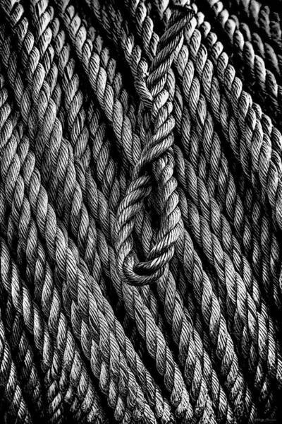 Photograph - Rope And Texture by Marty Saccone