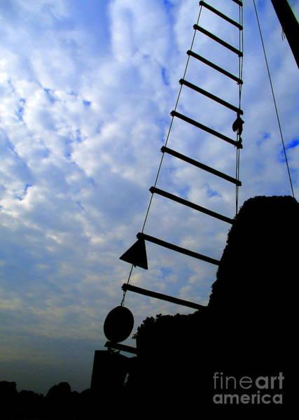 Rungs Wall Art - Photograph - Rope Ladder 1 by Randall Weidner