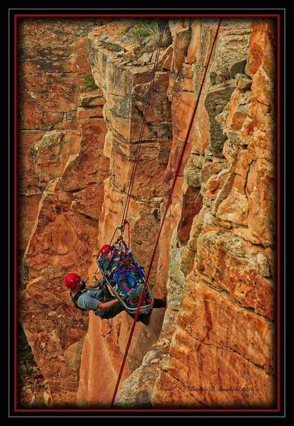 Wall Art - Photograph - Rope Rescue Practice by Brenda D Busskohl