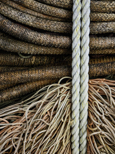 Oregon Coast Wall Art - Photograph - Ropes And Fishing Nets by Carol Leigh