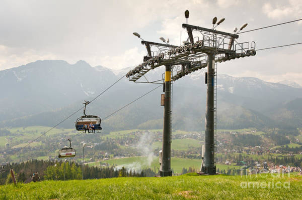 Ropeway Photograph - Ropeway High Chairlift Tourist Attraction by Arletta Cwalina