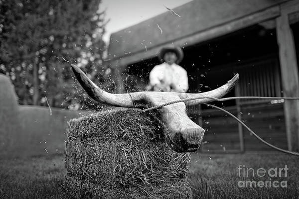 Photograph - Roping Practice by Patti Schulze