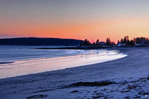 Photograph - Roque Bluffs Beach At Dusk by John Meader