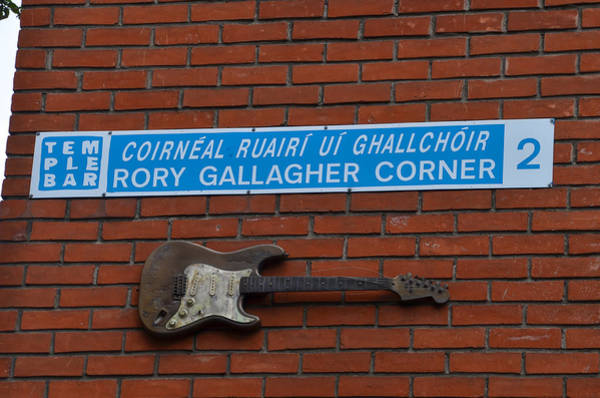Temple Bar Wall Art - Photograph - Rory Gallagher Corner - Temple Bar Dublin Ireland by Bill Cannon