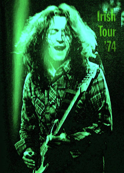 Classic Rock Mixed Media - Rory Gallagher Poster  by Enki Art