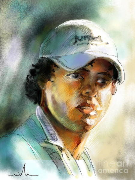 Painting - Rory Mcilroy by Miki De Goodaboom