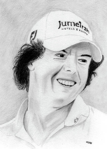 Drawing - Rory Mcilroy by Pat Moore