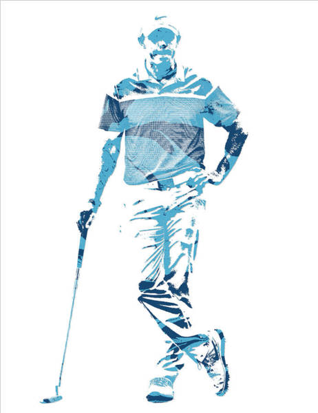 Wall Art - Mixed Media - Rory Mcilroy Pga Golf Pro Pixel Art 2 by Joe Hamilton