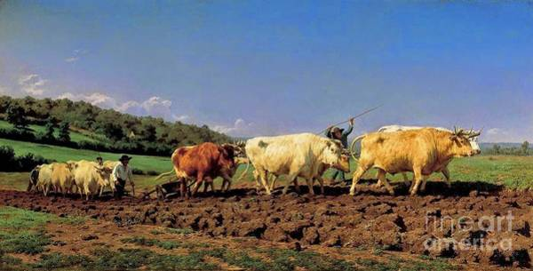 Ploughing Painting - Rosa Bonheur by MotionAge Designs
