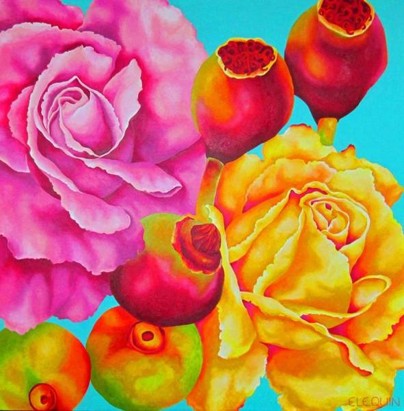 Wall Art - Painting - Rosa by Elizabeth Elequin