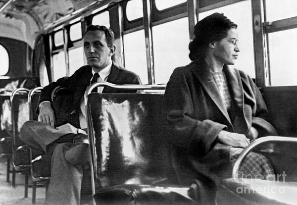 Wall Art - Photograph - Rosa Parks On The Bus by American School