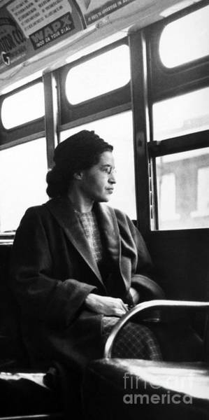 Wall Art - Photograph - Rosa Parks Sitting On A Bus In Montgomery, Alabama by American School