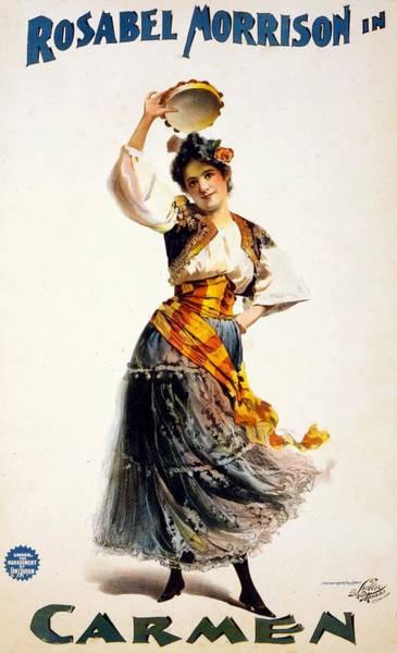 Carmen Wall Art - Mixed Media - Rosabel Morrison In Carmen - Vintage Advertising Poster by Studio Grafiikka