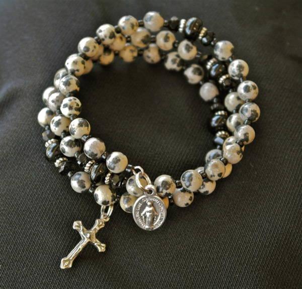 Jewelry - Rosary Bracelet Of Dalmatian Jasper by Michele Myers