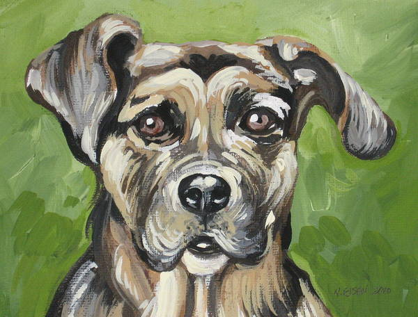 Painting - Roscoe by Outre Art  Natalie Eisen