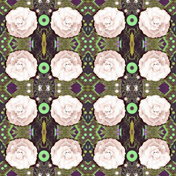 Digital Art - Rose Arrangement In Soft Pink by Helena Tiainen