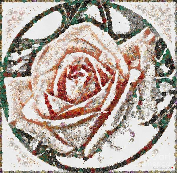 Painting - Rose Art Pearlesqued In Fragments by Catherine Lott