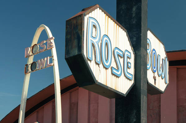 Rose Bowl Photograph - Rose Bowl Tulsa - Icon Of Route 66 by Gregory Ballos