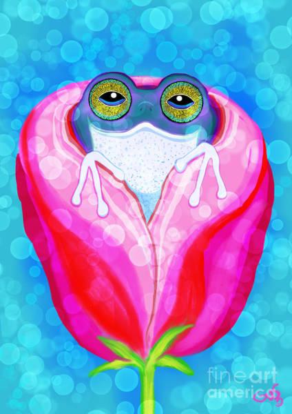 Wall Art - Painting - Rose City Rain Frog by Nick Gustafson