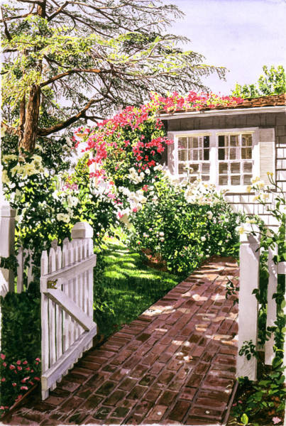 Snake Wall Art - Painting - Rose Cottage Gate by David Lloyd Glover