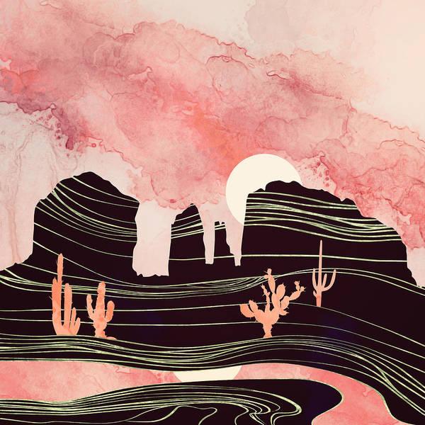 Wall Art - Digital Art - Rose Desert by Spacefrog Designs
