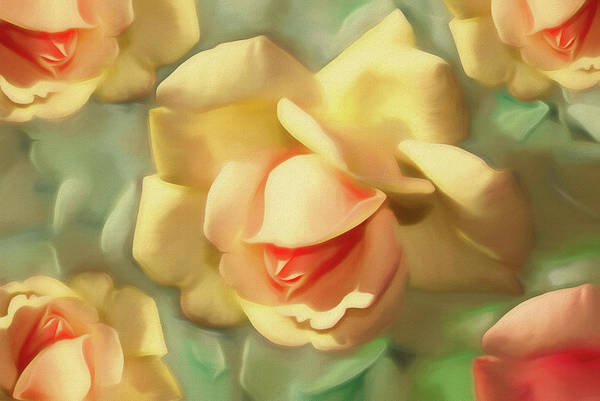 Mixed Media - Rose Dream 4 by Lynda Lehmann