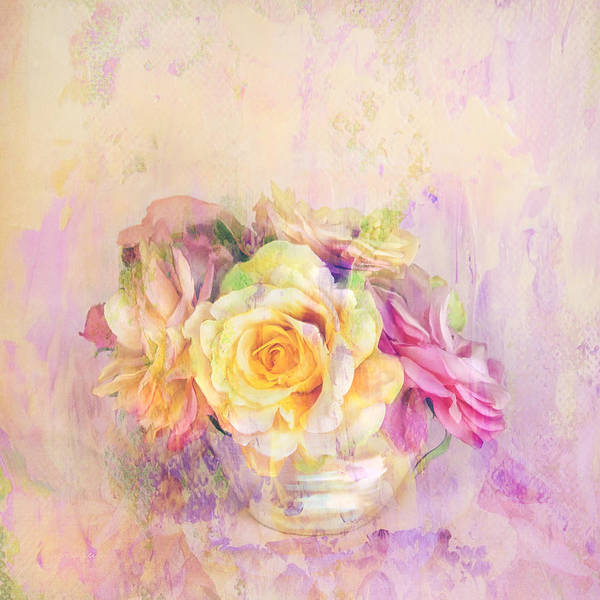 Impasto Photograph - Rose Dream Square Format by Theresa Tahara