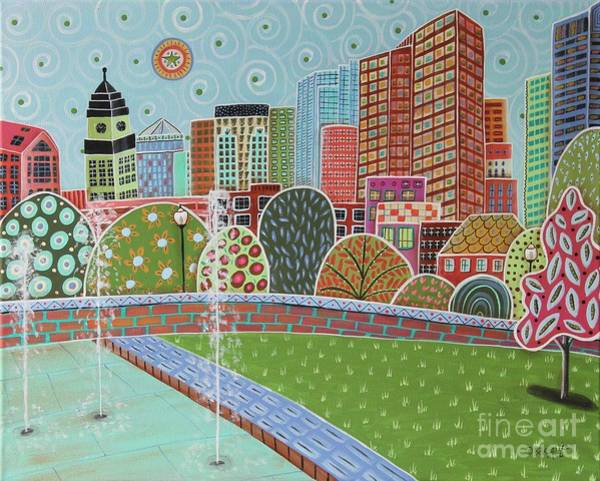 Wall Art - Painting - Rose Fitzgerald Kennedy Greenway Boston by Karla Gerard