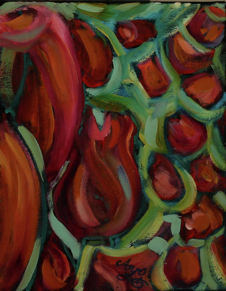 Wall Art - Painting - Rose Garden by Ann Lutz