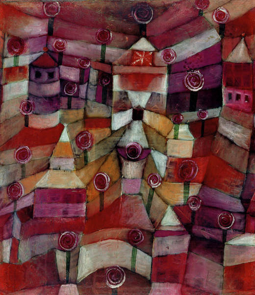 Painting - Rose Garden By Paul Klee 1920 by Paul Klee