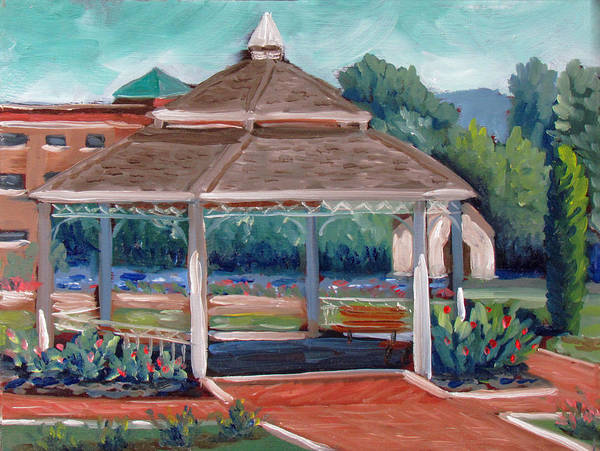 Painting - Rose Garden Gazebo by Kevin Hughes