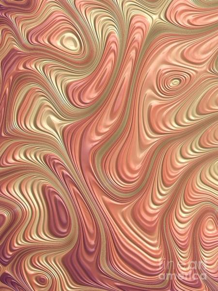 Abstract Rose Digital Art - Rose Gold by John Edwards