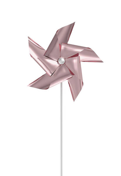 Rotating Digital Art - Rose Gold Pinwheel by Allan Swart