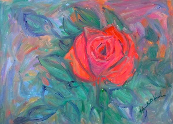 Painting - Rose Hope Stage One by Kendall Kessler