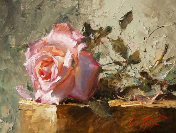 Russian Impressionism Wall Art - Painting - Rose In The Sunshine by Oleg Trofimoff