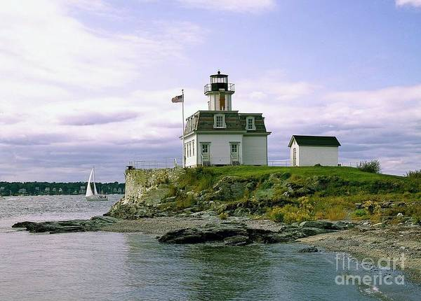 Wall Art - Painting - Rose Island Lighthouse Rhode Island by Pd