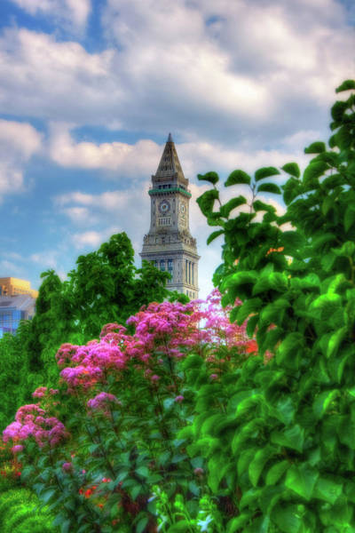 Photograph - Rose Kennedy Greenway And Marriott Custom House - Boston by Joann Vitali