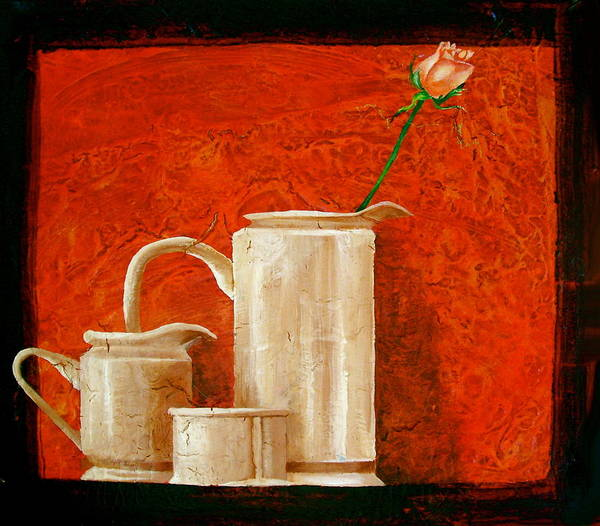 Wall Art - Painting - Rose by Laura Pierre-Louis