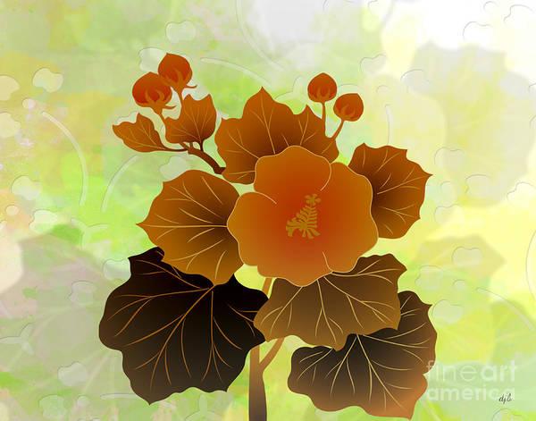 Rose Bud Digital Art - Rose Mallow Buds by Peter Awax